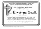 Guzik Krystyna