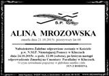 Mrozowska Alina