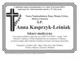 Kasprzyk-Leśniak Anna