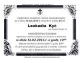 Kyć Leokadia