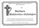 Binkiewicz Barbara