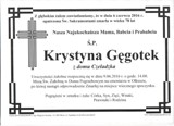 Gęgotek Krystyna
