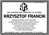 Francik Krzysztof