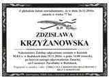 Krzyżanowska Zdzisława