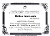 Maroszek Halina