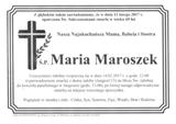 Maroszek Maria