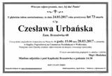 Urbańska Czesława
