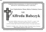 Babczyk Alfreda