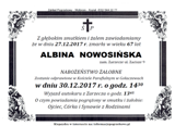 Nowosińska Albina