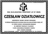 Dziatłowicz Czesław
