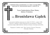 Gądek Bronisława