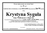 Syguła Krystyna