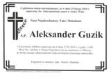 Guzik Aleksander