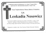 Nosowicz Leokadia