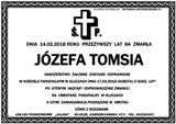Tomsia Józefa