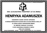 Adamuszek Henryka