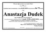Dudek Anastazja