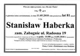 Haberka Stanisław