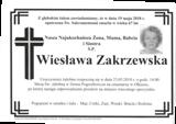 Zakrzewska Wiesława