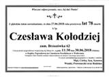 Kołodziej Czesława