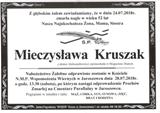 Kruszak Mieczysława