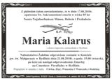 Kalarus Maria