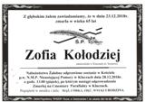 Kołodziej Zofia