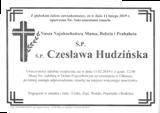 Hudzińska Czesława