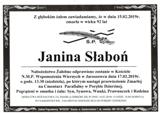 Słaboń Janina