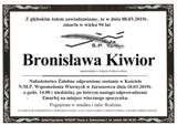 Kiwior Bronisława