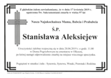 Aleksiejew Stanisława