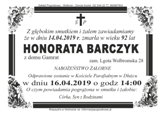 Barczyk Honorata