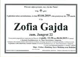 Gajda Zofia