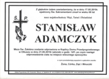 Adamczyk Stanisław