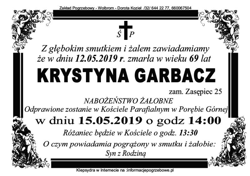 Pogrzeb śp. Krystyny Garbacz (l. 69)