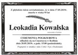 Kowalska Leokadia