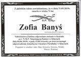 Banyś Zofia