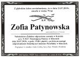 Zofia Patynowska
