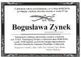 Bogusława Zynek