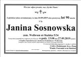 Janina Sosnowska