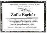 Zofia Bąchór