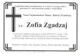 Zofia Zgadzaj