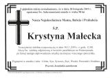 Krystyna Małecka