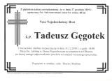 Tadeusz Gęgotek