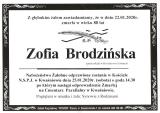 Zofia Brodzińska