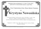 Krystyna Nowosińska