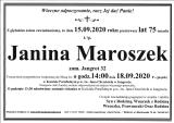 Janina Maroszek