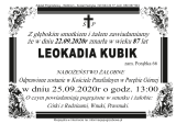 Leokadia Kubik