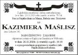 Kazimiera Maślisz
