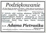 śp. Adam Pietrasik